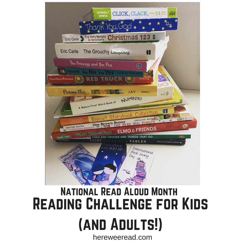 National Read Aloud Month Reading Challenge for Kids (and Adults)!